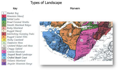 Geological Map of Morvern giving Rock Types